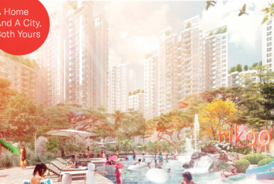 This is the rendered image of Nikoo Homes residential development by Bhartiya city